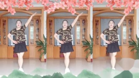 彩虹丹广场舞 山谷里的思念 单人水兵舞3人版