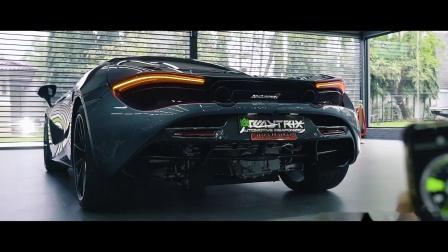 迈凯伦720S 改装ARMYTRIX全段阀门排气 马力机上狂炸F1赛车声浪🏎