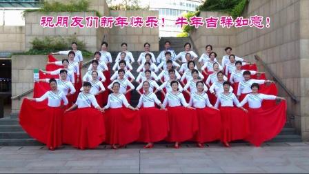 上海红舞鞋广场舞队祝全国朋友们新年快乐