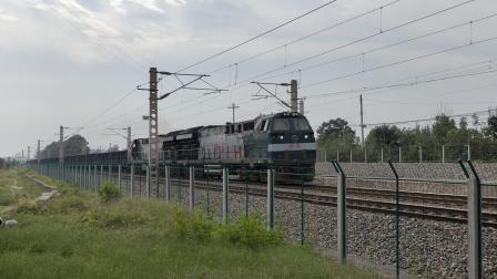 鼓型CR200J与西局新段HXN5货列通车