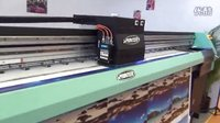 UV打印视频-绘迪POWER4S喷绘机打印布