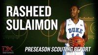 Rasheed Sulaimon Preseason Scouting Video