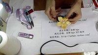 【巧姑娘丝带】五瓣茶花蝴蝶结手工DIY发饰教程