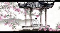 桃花仙中国风水墨动画