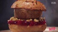 火鸭汉堡(火鸡肉包鸭肉和鸡肉做的大肉卷) - Burger Lab