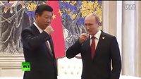 【据传4000亿美元】中俄天然气合同签订现场