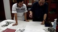 魏来五道大师(三)---日本东京书画学院院长、《国际名人》杂志总裁莅临侯天明美术馆演示墨兰画法