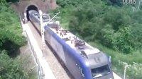 2012-08-13 宝成线 北京西 - 成都 T7次列车通过煤炭沟隧道,接近秦岭隧道