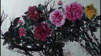 国画牡丹画法视频 怎样画牡丹 南忠豹绘画视频