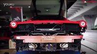 紅色法拉利458 Italia改裝Fi可变阀门排气管怠速加速凶猛排气声浪测试影片
