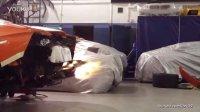 兰博基尼Aventador 排气管喷火