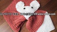 温暖你心毛线店 第209集 可爱狐狸围脖的织法手工编织宝宝婴儿