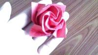 折纸玫瑰花大全视频教程 玫瑰花的折法 第二款 折纸王子