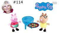 #114 粉红猪小妹 珮珮 培得洛马 BBQ 烧烤 英语 玩具妈妈