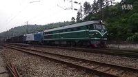 [拍火车]DF4B拉机破电1C货列遇电1B货列高速通过 京广线