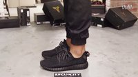 Adidas Yeezy 350 Boost Pirate Black 全黑 上脚欣赏