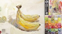 「国君美术」朱友色彩静物教学视频_香蕉_单体_水果_学画画