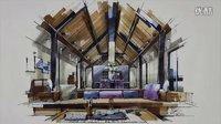 茶室空间设计手绘表现20151111