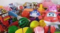 变形警车珀利消防车罗伊★水果切切切看玩具★超级飞侠乐迪迪士尼公主超级玛丽海绵宝宝