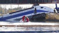 法国TGV实验列车出轨事故后的惨状