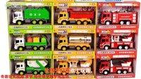 奇趣玩具82 惯性车吊车大号儿童玩具车汽车大卡车货车叉车男童工程车玩具套装汽车总动员