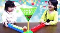 林中弹球大对决!面包超人嘭嘭嘭【中国爸爸】日本玩具