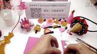 编号81 【巧姑娘丝带】皇冠与圣诞尖帽头饰DIY手教程