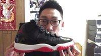 大格球鞋视频--第八期 AJ11 bred黑红