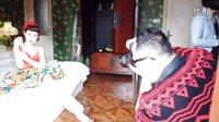 模特MINA 携手摄影师4+1,美式复古,香艳绝伦晒美腿