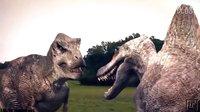 侏罗纪公园霸王龙vs棘背龙