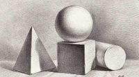 初学素描基础知识_正确认识素描石膏几何体_零基础自学素描入门视频