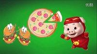猪猪侠玩偶做千层饼 做汉堡饼干 亲子小游戏