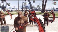 【亚当熊 GTA5 mod系列】武器MOD(死神镰刀&美国队长盾&雷神之锤)猩球崛起