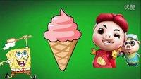 海绵宝宝哆啦A梦的食玩 猪猪侠偷吃冰淇淋 玩具妈妈