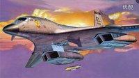 """美国空军B-1B""""枪骑兵""""超音速战略轰炸机-全加力起飞"""