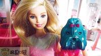 芭比娃娃 神奇变色套装 狗狗 过家家玩具 亲子小游戏 玩具口袋 原创视频