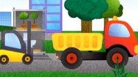 登山爬坡赛6赛车总动员油罐车警车消防车挖土机赛车挖掘机工作视频 拖挂车赛车总动员闪电麦昆亲子游戏