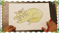 画小花猫,亲子教育教儿童学画画基础技巧教程, 教幼儿学画画自学教学步骤【乐成宝贝】