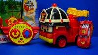 变形警车珀利 遥控版罗伊消防车 迪士尼玩具 赛车总动员