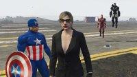 亚当熊 GTA5:黑寡妇携手美队钢铁侠战争机器勇闯军事基地