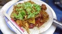 夜市街头美食-馬來滷麵和炒面