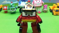 变形警车珀利——罗伊消防车 变形机器人 汽车总动员 迪士尼玩具 海底小纵队 变形金刚 汽车玩具大全