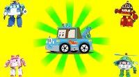 变形警车珀利 罗伊 消防车 珀利 警车 安巴 救护车  斯普奇 – 拖车