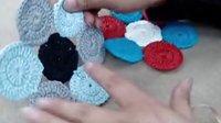 第8集 环环相扣垫子C518 编织教学教程视频 棉草拉菲桌面也田园系列(流畅)
