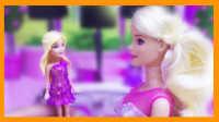 芭比带宝宝开着豪华的甲壳虫去买生日礼物(づ。◕‿‿◕。)づ 亲子玩具视频