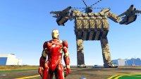 【亚当熊 GTA5 mod系列】钢铁侠VS逆闪结局竟然是这样&超大机器人