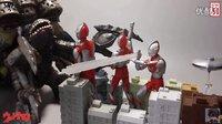 【梓寒测评】052 万代 shf系列 S.H.Figuarts ultraman 初代奥特曼50周年纪念+魂qption act building正常版&战损版