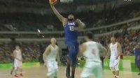 [精彩瞬间]男篮中国VS美国 考辛斯单臂暴扣