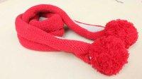 小孩儿童卷边条纹围巾的织法视频教程