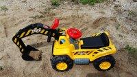 早教益智玩具212 超大号儿童电动挖土机可坐可骑推土机挖掘机铲车工程车玩具钩机汽车总动员奇趣蛋玩具视频 小猪佩奇水果切切看 儿歌舞曲-PSY-江南Style